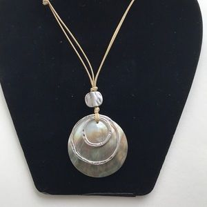 JJill Shell Adjustable Summer Necklace